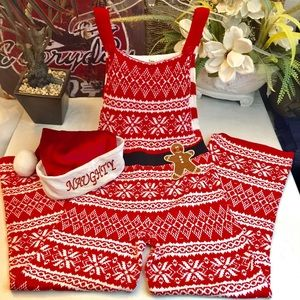 """Born Famous"" ugly Christmas Fair Isle jumpsuit- S"